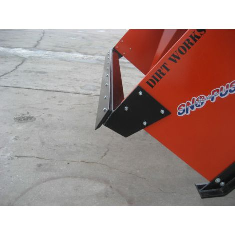 Optional accessory for skid steer snow pusher - 8ft pull back blade