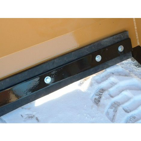 Snow Pusher Skid Steer - 8ft - Replaceable Rubber Blade