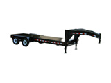 Custom Generator Trailer - Gooseneck - Front View - 18000 lb / 20-foot