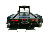 Custom Generator Trailer - Gooseneck - Rear View with Fuel Tank (Uncovered)