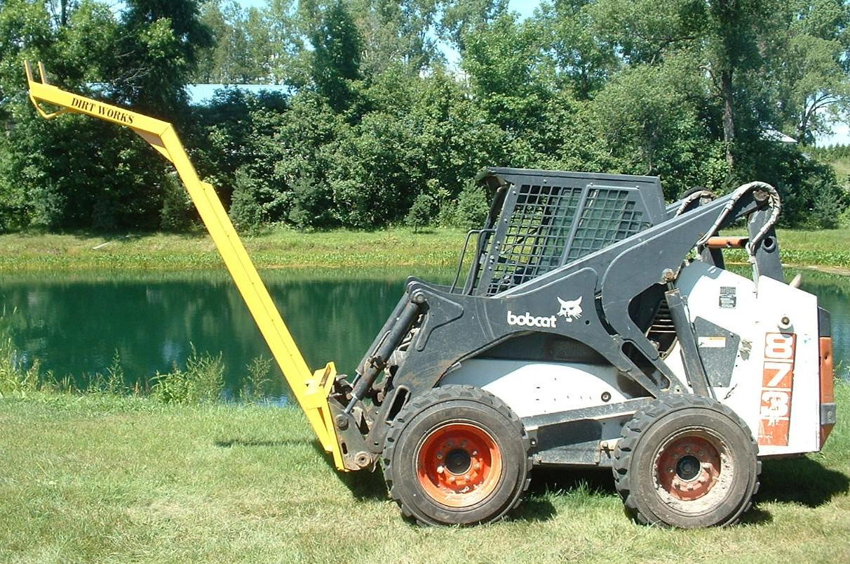 Dirt Works Telescopic Extenda Boom Skid Steer Attachment
