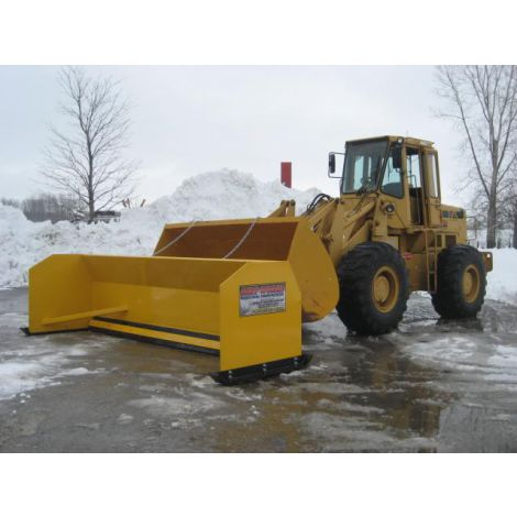 12 ft Industrial Snow Pusher for Loader or Back Hoe